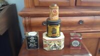 Vintage Set of 5 rare, very old mix containers.