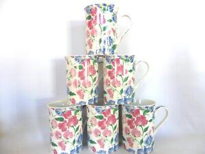 Set of 6 sweet Pea 10oz mugs