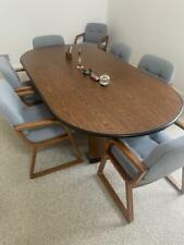 Conference Table Amp Eight Chairs