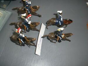 17th Lancers? Officer, Bugler & 2 Lancers (1 Tail & 1 Lance Top Missing ) See Ph