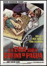 LA CASA SULLA COLLINA DI PAGLIA MANIFESTO CINEMA HORROR 1976 EXPOSÉ POSTER 2F