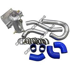 CX Aluminum Radiator Hard Pipe Kit for RX7 13B Engine RX-8 RX8 Swap Blue Hose