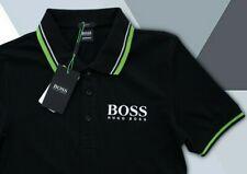 HUGO BOSS T Shirt Black Polo Size L Black Label Brand New Men