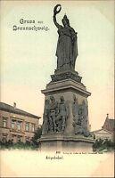 Braunschweig Niedersachsen ~1900/10 Partie am Denkmal Kriegerdenkmal Postkarte