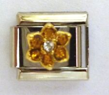 9mm Classic Size Italian Charms Birthstone Petal Citrine NOVEMBER