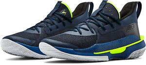 Under Armour UA Curry 7 Men's 11.5 Dub Nation Basketball Shoes Navy 3021258-405