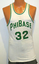 vtg Phi Base #32 Basketball Game Jersey Small 60s Empire team issue Nylon-Cotton