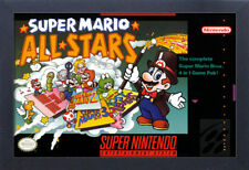 SUPER MARIO ALL STARS VIDEO GAME 13x19 FRAMED GELCOAT POSTER SUPER NINTENDO NEW!