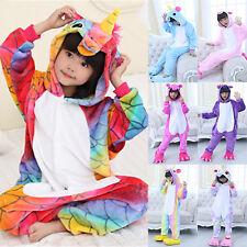 Infantil Arcoiris Unicornio Kigurumi Animal Cosplay Traje Pijama Ropa de Dormir