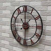 new Large red Roman Numeral Wall Clock for Home / Garden / Outdoor -uk