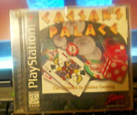 PS1 CAESARS PALACE 2000 MILLENNIUM GOLD EDITION PLAYSTATION VIDEO GAME PRE-OWNED
