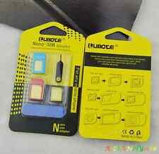 Nano SIM Card to Micro Standard Adapter Converter Set For iPhone 4 5 6 Samsung