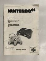 N64 original instruction manual booklet book nintendo 64 nes