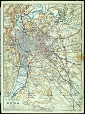 Dintorni di ROMA, alter Stadtplan (mappa della città vecchia), datiert 1931
