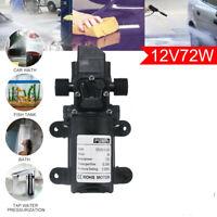 72W 12V 130PSI High Pressure Auto Diaphragm Water Pump Self-Priming Caravan