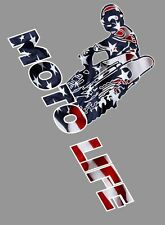 Moto Life USA sticker, 10x7 Motocross dirt bike, trailer decal motorcycle decal