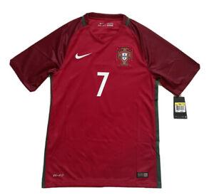 2016/17 Portugal Home Jersey #7 Ronaldo Small Nike Soccer Euro Champions CR7 NEW