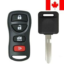 1x New Replacement Keyless Remote with Ignition Key For Nissan ID 46 Chip