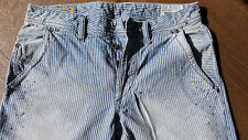 Diesel Bhetto, Size 29/32, blue white stripes version with color-drops