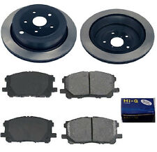 Rear Ceramic Brake Pad Set & Rotor Kit for 2008-2010 Subaru Tribeca
