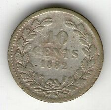 NETHERLANDS WILLEM III SILVER COIN 1882 10 CENTS - KM#80