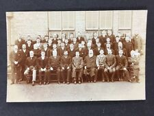 Vintage Postcard: Real Photo: Anon Group: #A132: Large Group Edwardian Gents
