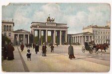 Berlin Germany Brandenburger Tor Antique Postcard c 1911