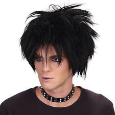 80'S SPIKEY ROCK STAR WIG BLACK SHORT WIG MEN'S FANCY DRESS ACCESSORY