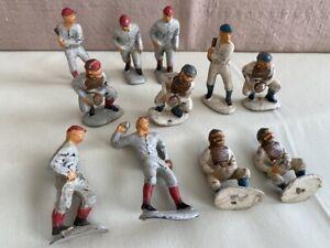 Vintage 11 Baseball Figurines Hard Rubber Celluloid ? Figures