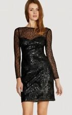 Boat Neck Party Dresses for Women with Sequins