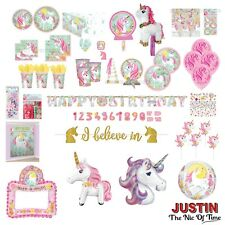 Magical UNICORN Girls Birthday Party Tableware Plates Cups Napkins Tablecover
