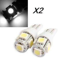 2 Bombillas LED, T10 5050 9SMD 5W5, DC12V, varios colores, posicion, matricula.