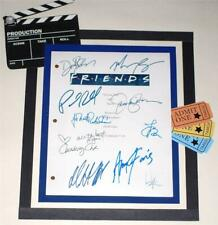 FRIENDS T.V. SCRIPT FINAL EPISODE SIGNED JENNIFER ANISTON  DAVID SCHWIMMER