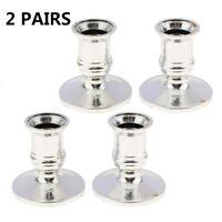 4pcs Candle holder Taper Standard Candlestick Pillar Tea light Durable
