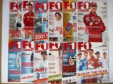 F1 RACING Magazine Collection Full Year 2001