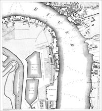 Grand Surrey & Commercial Docks - London old map repro  1813, 3-8