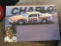 Bobby Allison Hardee's Car Hero Card Post Card NASCAR Vintage