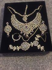 Pakistani/Indian Artificial Asian Bridal Jewellery Set Stunning White And Purple