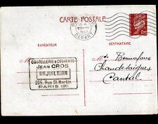 """PARIS (III) COUTELLERIE & COUVERTS """"Jean CROS"""" voyagée en 1942"""