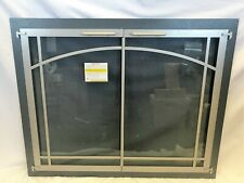 """Stoll Glass Fireplace Door Bar Stock Silver Mist & Champagne 37 3/8"""" x 30 1/8"""""""