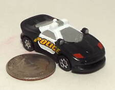 Small Mini Hot Wheels Police car in Light Black and White