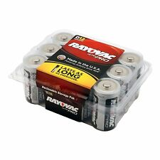 Rayovac Alkaline D Batteries, 12-Pack with Recloseable Lid (ALD-12) , New, Free