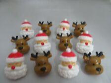 12 Reindeer & Santa  novelty cupcake rings