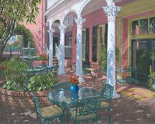 """Originale de Richard Harpum """"meeting Street Inn CHARLESTON"""" peinture Caroline du Sud"""