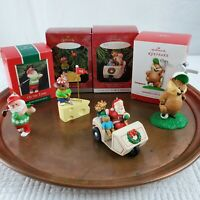 Lot of 4 Hallmark Keepsake Vintage Golf Lover Christmas Ornaments Santa Claus +