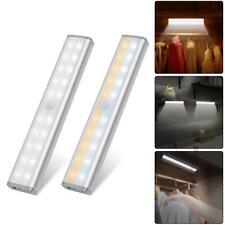 20LED PIR Sensor Under Cabinet Light USB Charging Dimmable Closet Shelf Lamp Bar
