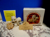 PRECIOUS MOMENTS 1990 MEMBERS ONLY FIGURINE IM NUTS OVER MY COLLECTION