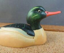 Anri Wildlife Collection Mini Red Breasted Merganser Duck Figurine Decoy #2