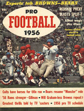 1956 Pro Football Preview Magazine NFL Giants Redskins