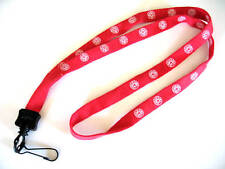 Fire Department Maltese Cross Red Cotton Lanyard Neck Strap and I.d. Holder